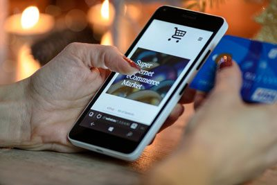 Shopping on eCommerce website by phone